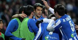 Los jugadores del Athletic celebran el único tanto del encuentro. | EFE
