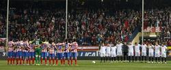 Partido entre el Atlético de Madrid y el Sevilla. | EFE