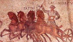 Diocles en un feragmento del mosaico del circo.