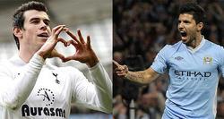 Gareth bale y Kun Agüero, con el Tottenham y el City respectivamente.