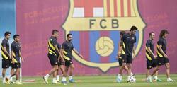 Los jugadores azulgranas se entrenan a las órdenes de Martino | EFE
