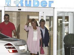 La baronesa Thyssen, a la salida de Ruber   Efe