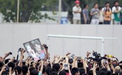 Una multitud esperaba la llegada de Beckham. | Cordon Press