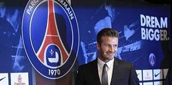 David Beckham, en su presentación como jugador del PSG. | Cordon Press