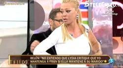 Belén Esteban en el momento en que pide a Jorge Javier Vázquez que le quite el micro | Web Telecinco