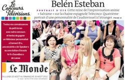 Imagen de la Esteban en la sección de TV del diario