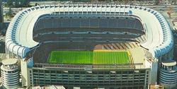 El estadio Santiago Bernabéu podría ser patrocinado por Microsoft.   Archivo