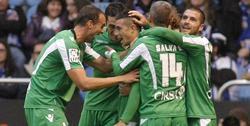 Los jugadores del Betis celebran un triunfo de oro. | EFE