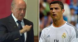 Joseph Blatter y Cristiano Ronaldo. | Archivo