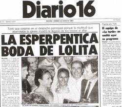 Lolita y su boda con su ex Guillermo Furiase