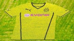 Presentación de la nueva camiseta del Borussia. | Foto: bvbtotal.de