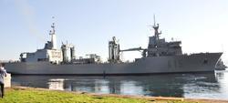 El BAC Cantabria, en el puerto de Ferrol. | Armada