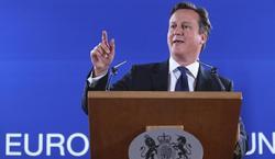 Cameron, durante la cumbre europea | EFE