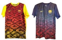 Las camisetas de entrenamiento que el Barça utilizará la próxima temporada.