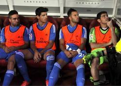 Casillas, en el banquillo del estadio de Los Cármenes.   EFE