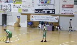 Imatge de la bandera independentista en la cancha del CB Balaguer | @CBBalaguer