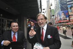 Juan Luis Cebrián, en una visita a Nueva York   Coron