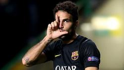 Cesc celebra su gol ante el Celtic. | Cordon Press