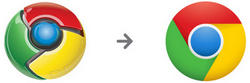 Cambio del logotipo de Chrome. | Google