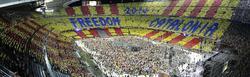 Aspecto que presentaba el Camp Nou   Archivo