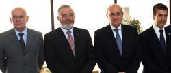 García Hidalgo, junto a Díaz de Mera, Fernández Díaz y Cosidó. | Policía