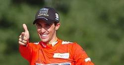 Alberto Contador, en el podio final de la Vuelta a España. | Archivo