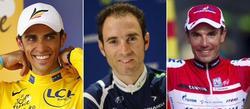 Contador, Valverde y Purito, bazas españolas en el Tour.