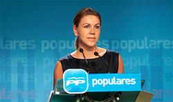 La popular, durante la rueda de prensa | Tarek/PP