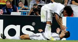 Cristiano Ronaldo celebra su gol con Marcelo. | EFE