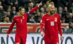 Cristiano Ronaldo celebra uno de sus tres goles a Suecia. | Cordon Press