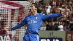 Cristiano Ronaldo celebra su gol ante el Almería. | EFE