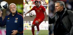 Del Bosque, Pandev y Mourinho. | Archivo