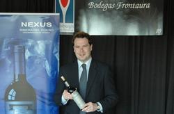 Diego Pinedo en una presentación de los vinos de Bodegas Frontaura en EEUU | DP