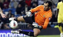 Diego López, durante su etapa en el Villarreal.   EFE