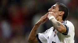 Ángel Di María celebra su gol al Deportivo. | Cordon Press