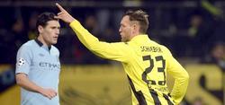 Julian Schieber celebra su gol al Manchester City. | EFE