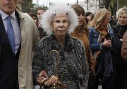 El enfado de la duquesa de Alba | Cordon Press
