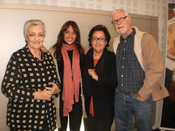 Sergio, a la derecha de la foto, durante la visita de El Consorcio a esRadio.   Archivo