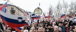 Manifestantes en Liubliana, Eslovenia | Corbis