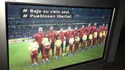 La BBC, emitiendo el supuesto himno de España en sus subtítulos. | Twitter