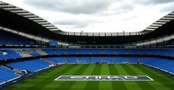 Aspecto interior del Etihad Stadium de Manchester.