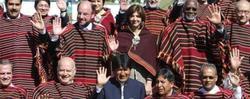 Evo Morales en la foto de familia de Cochabamba. | EFE