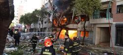 Explosión registrada en un edificio de Rosario. | EFE