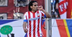 Falcao celebra uno de los dos tantos conseguidos ante el Granada. | Cordon Press