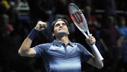 Roger Federer celebra su victoria ante Del Potro. | EFE