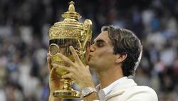 Federer celebra el séptimo Wimbledon de su carrera. | EFE