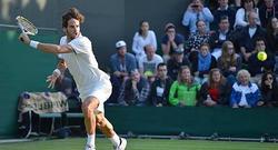Feliciano López, durante un partido en Wimbledon. | Cordon Press