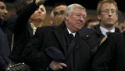 Alex Ferguson, en el palco del Camp Nou.