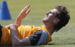 Fernando Llorente, durante un entrenamiento. | Cordon Press