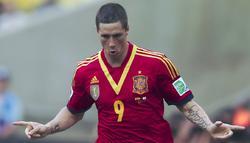 Torres celebra sus goles ante Tahití. | Cordon Press
